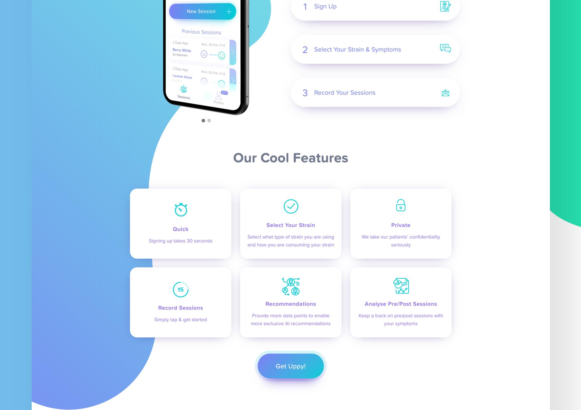 Startup Website Design 2
