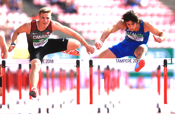 Anastas Eliopoulos at 2018 IAAF World U20 Championships in Tampere, Finland