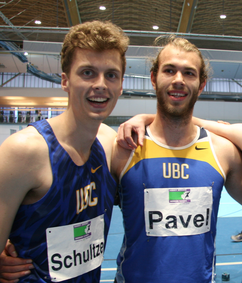 Kenneth Schultze and Bogdan Pavel at Jerome Indoor Games