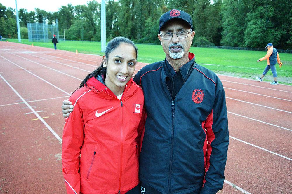 Jasneet Nijjar with coach Jessie Dosanjh