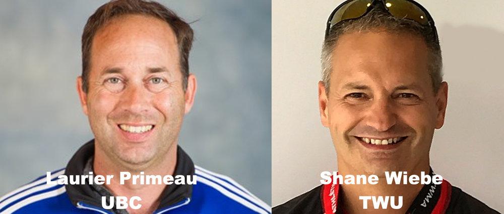 Coaches of University of British Columbia and Trinity Western University