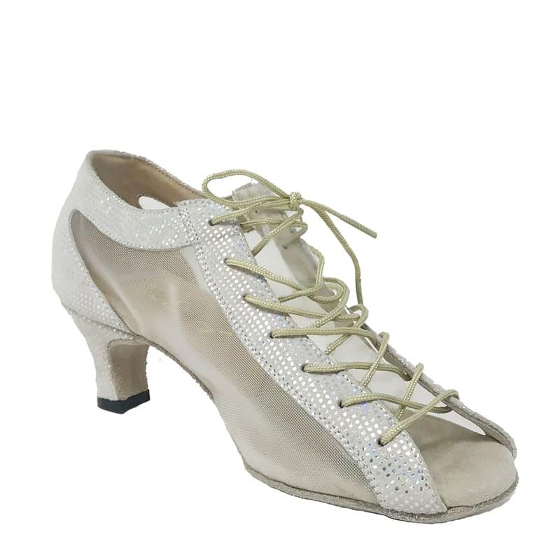 Lady Godiva CB Double Sole Point Leather/Mesh Multi Silver