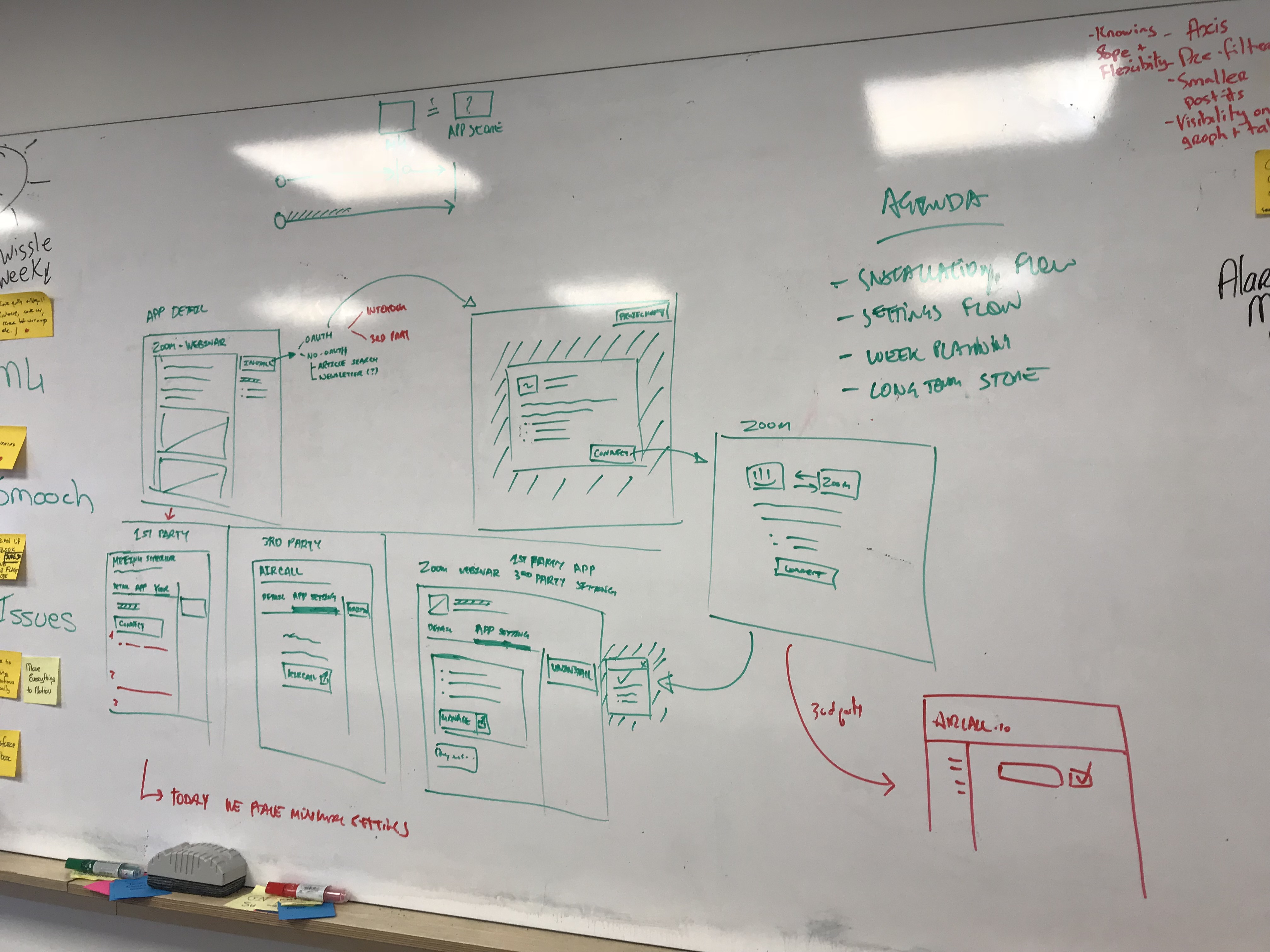 Sketching the experience of the App installation flow
