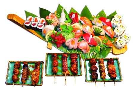 menu sushi bateau