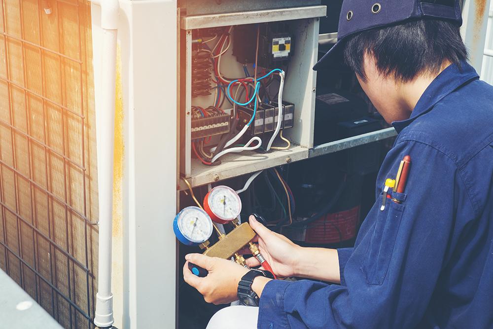 Technician making repair