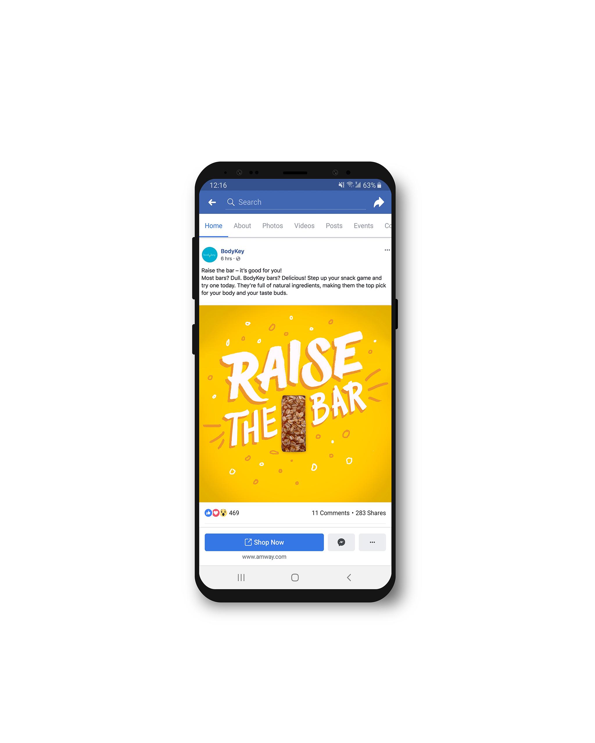 Raise the Bar Facebook Mockup