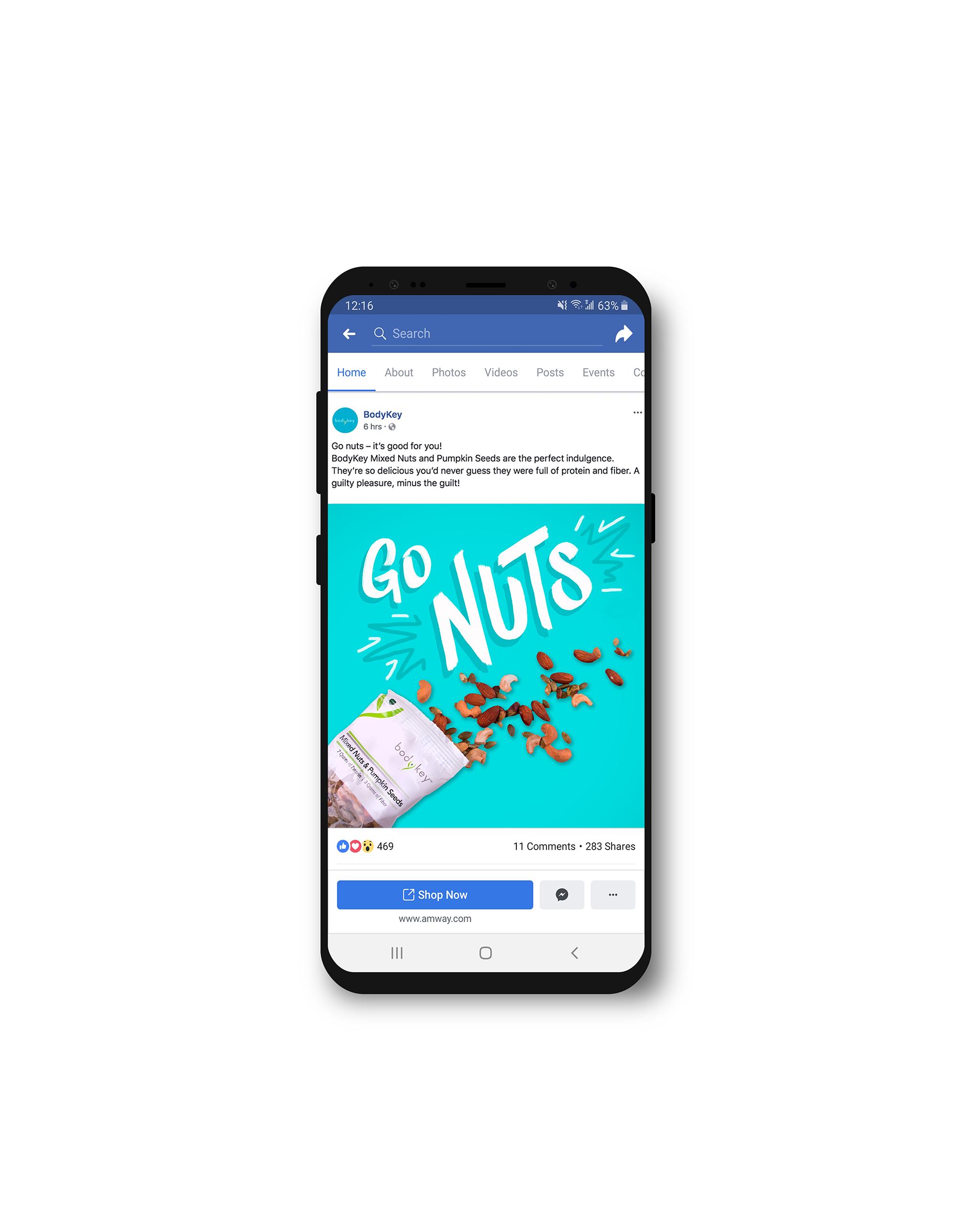 Go Nuts Facebook Mockup