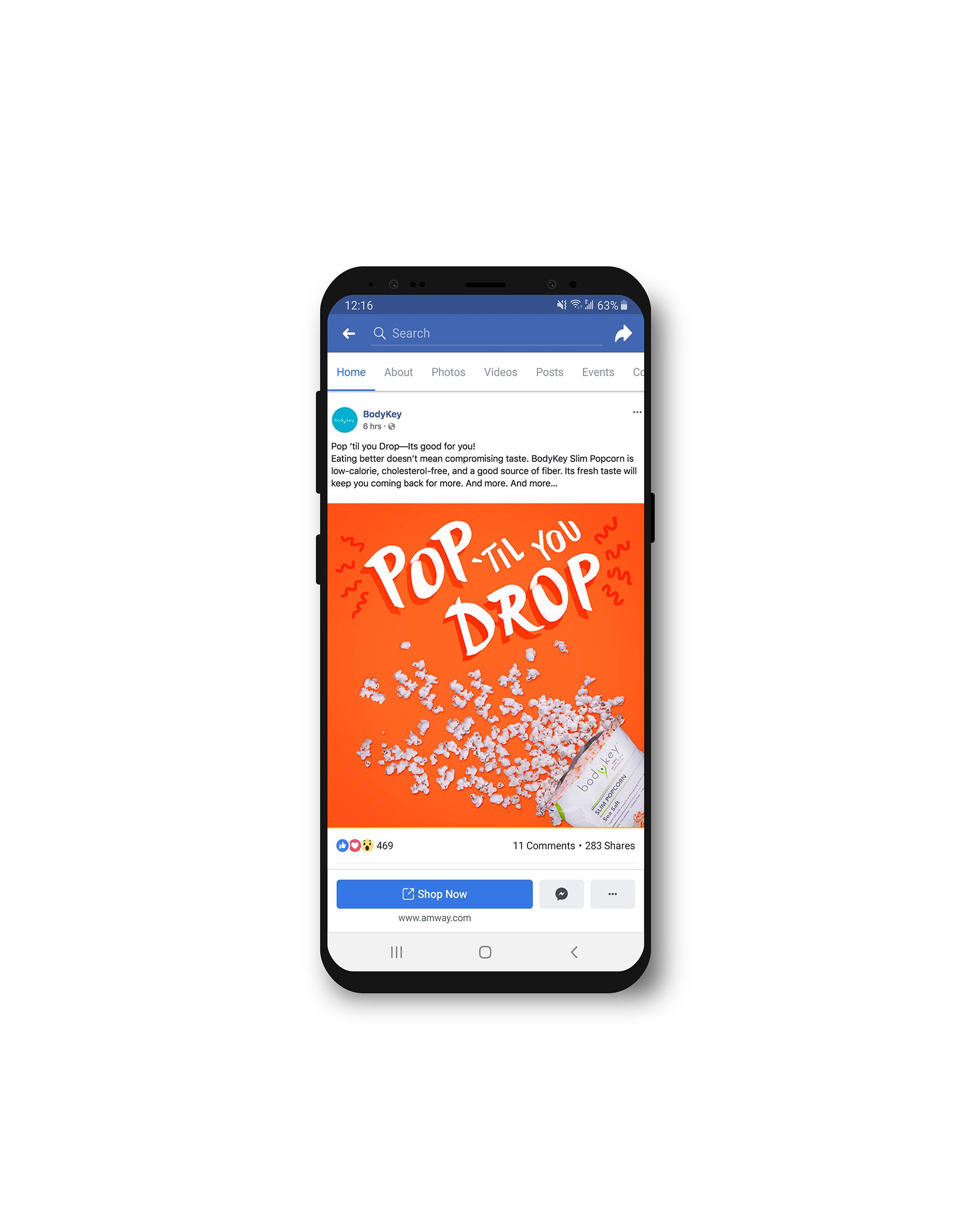 Pop till you Drop Facebook Mockup