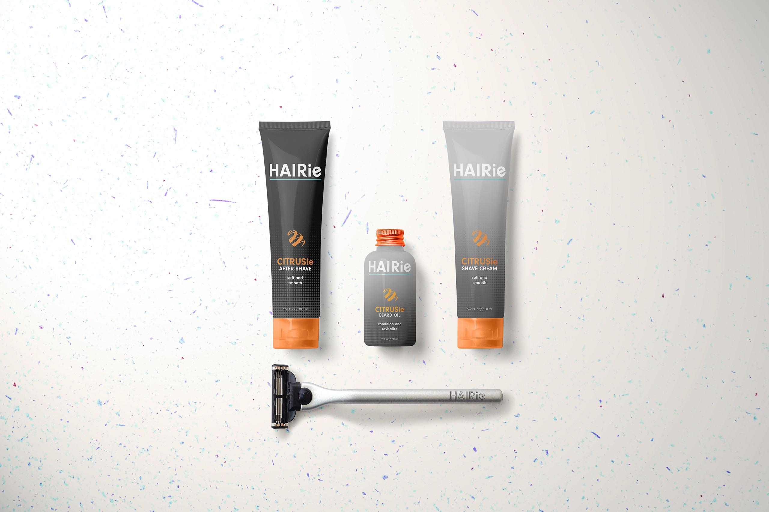Hairie Citrusie shave kit