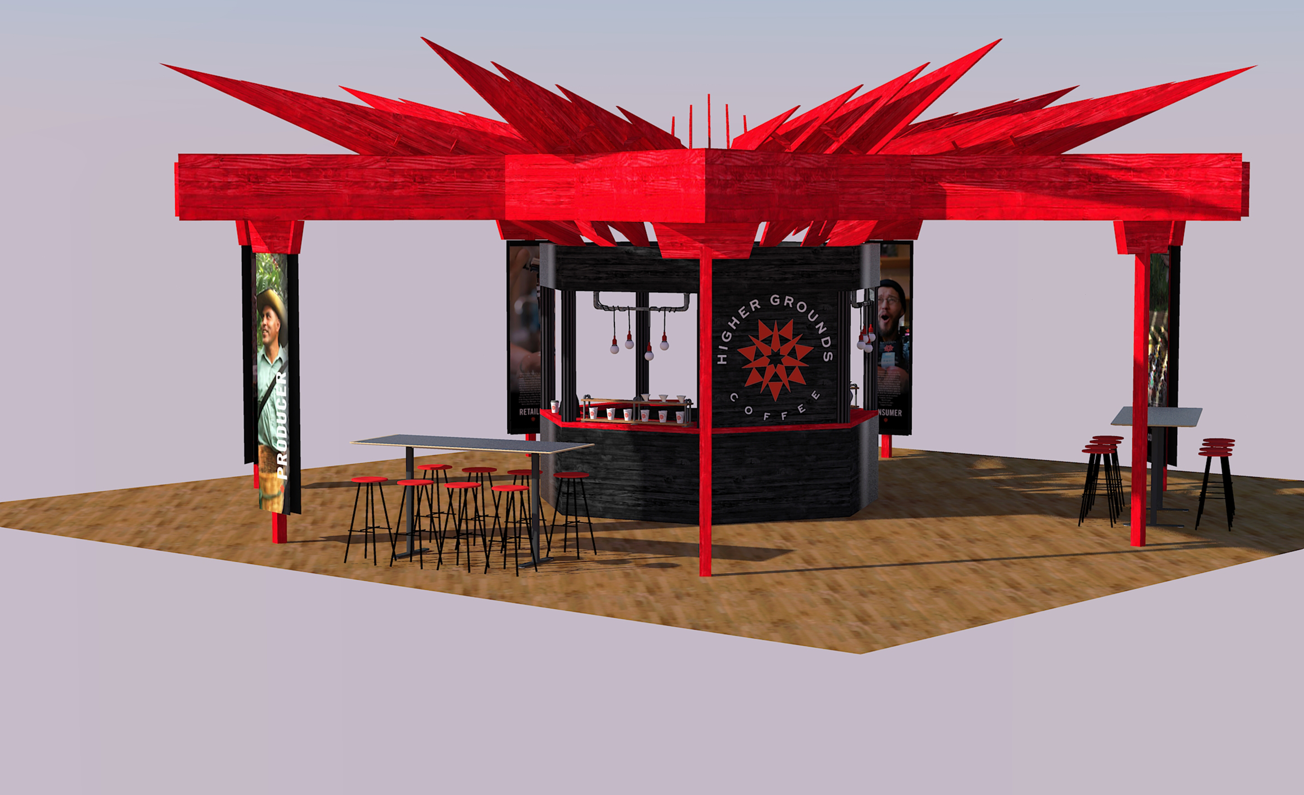 Trade show booth 4