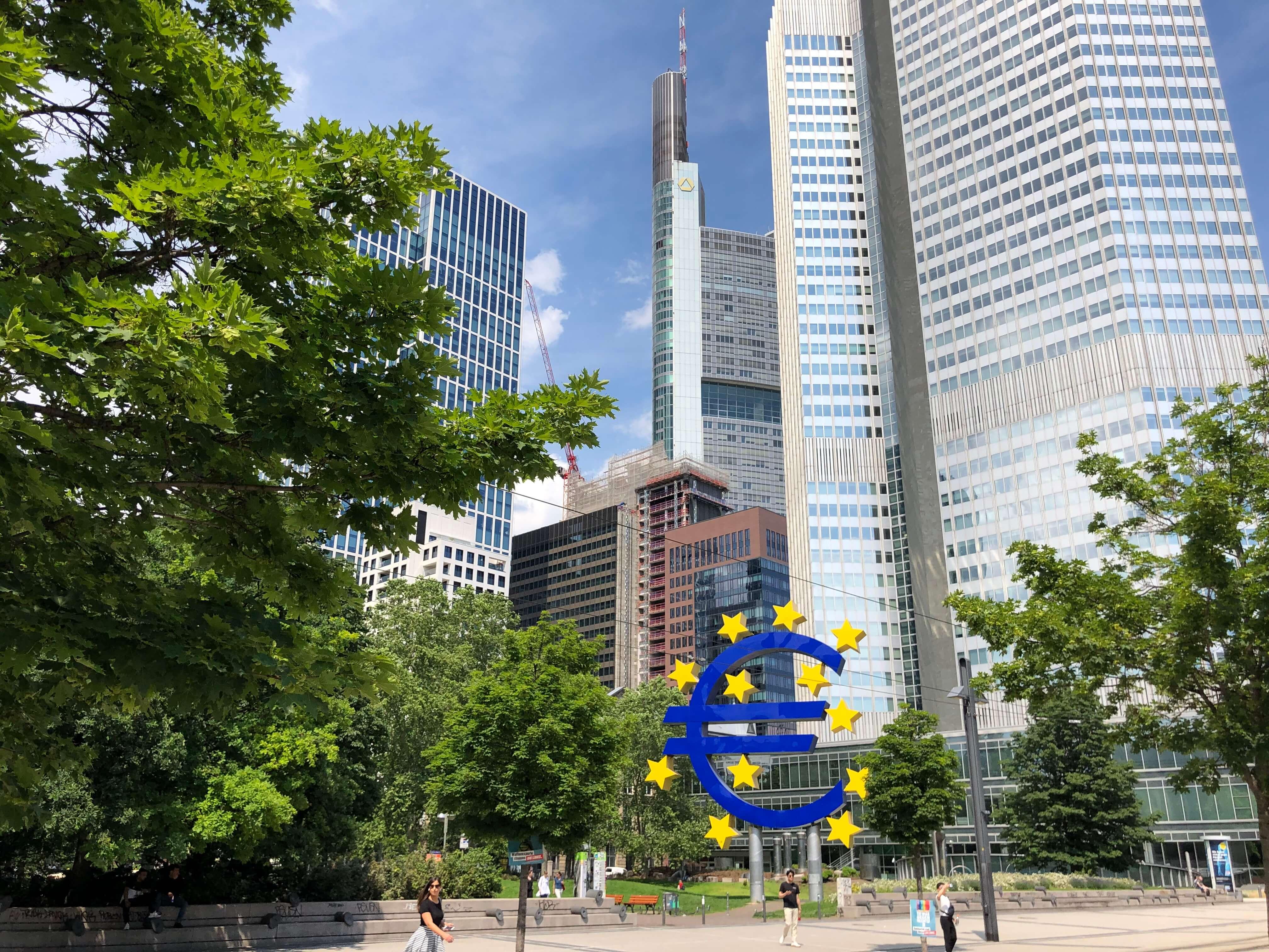 ezb frankfurt lizenzfreies bild kostenlos herunterladen