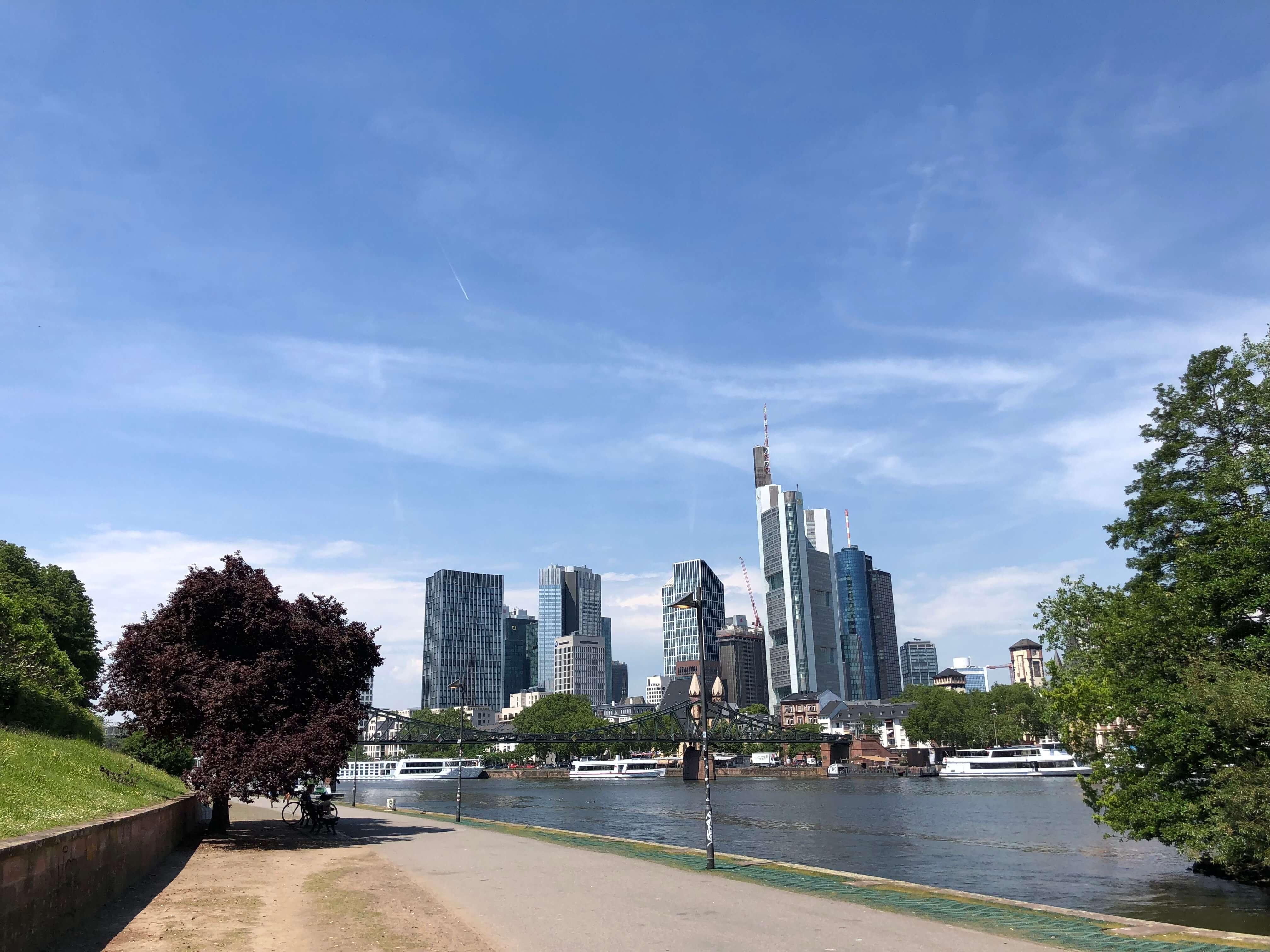 Skyline Frankfurt Kostenloses Bild Herunterladen Mainblick