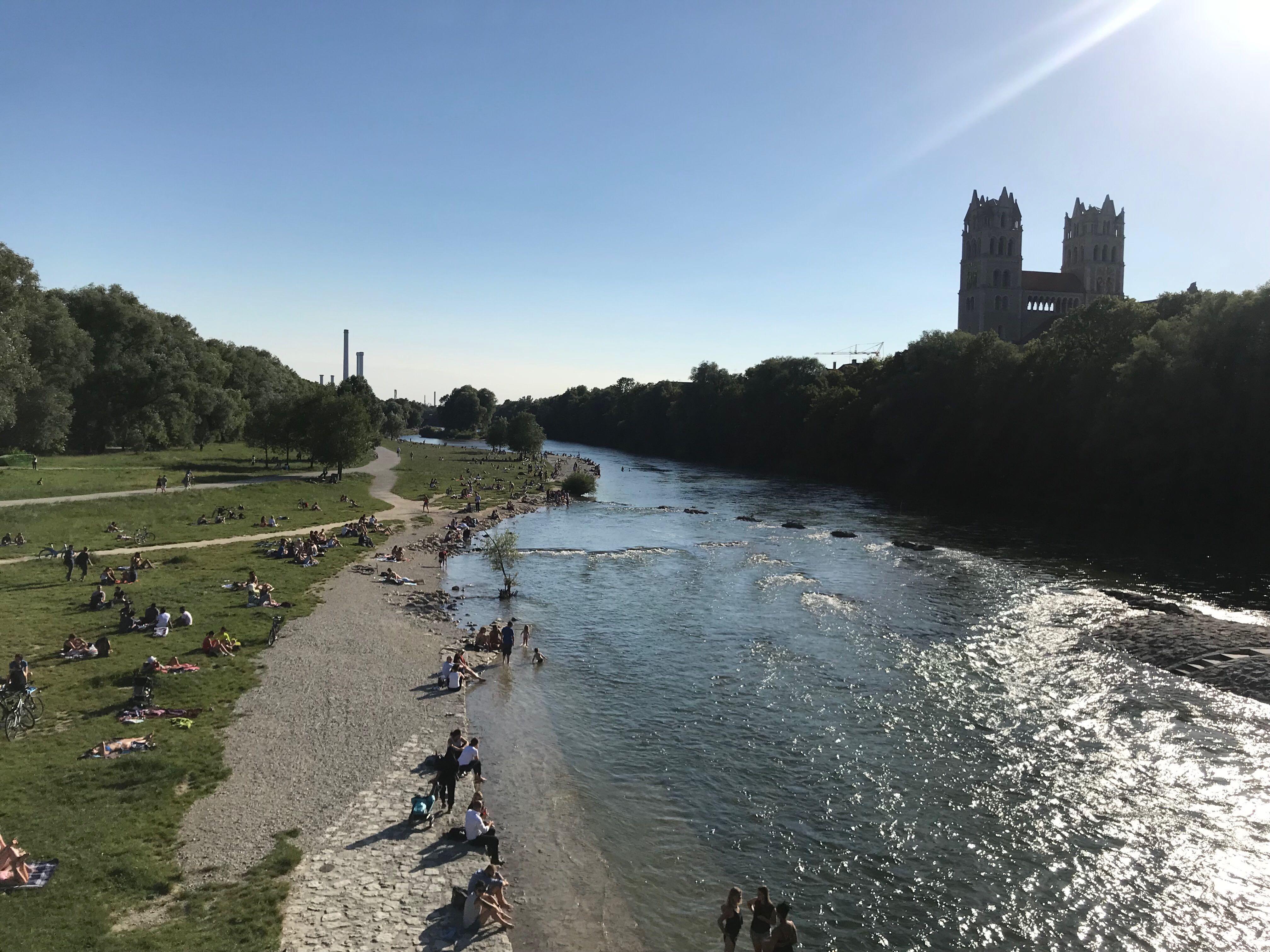 München Isar Lizenzfreies Bild Herunterladen
