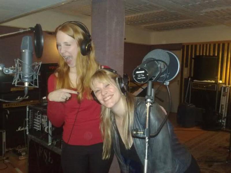 Recording with Simone