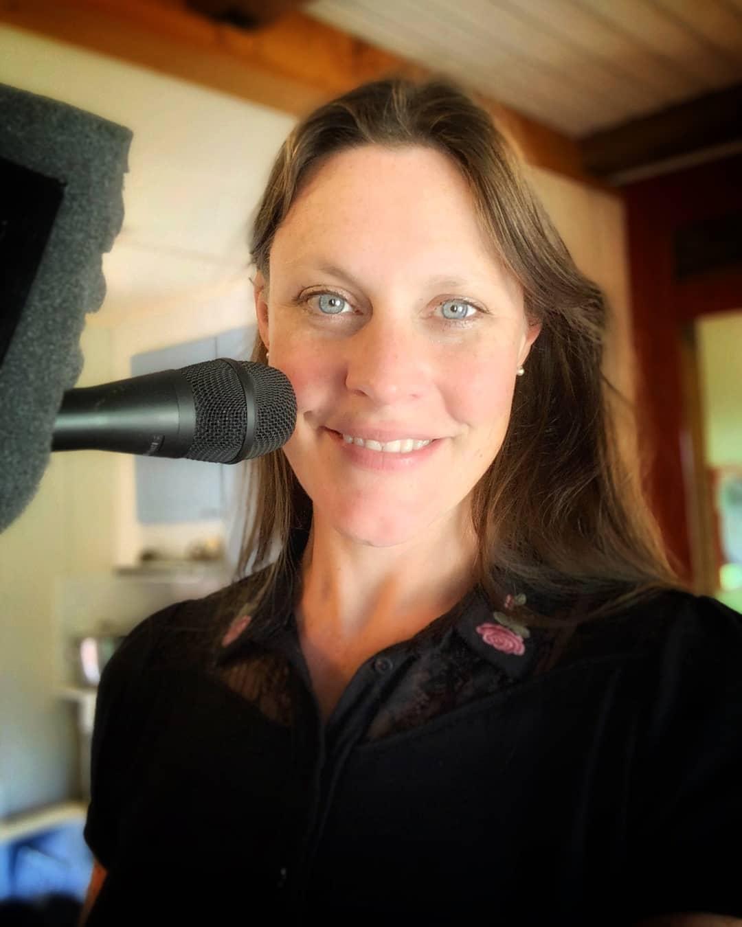 Floor Jansen rehearsing with Nightwish in studio