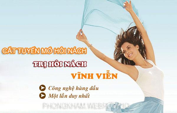Cắt tuyến mồ hôi nách bao nhiêu tiền ở đâu Bệnh viện hay phòng khám tại Hà Nội?