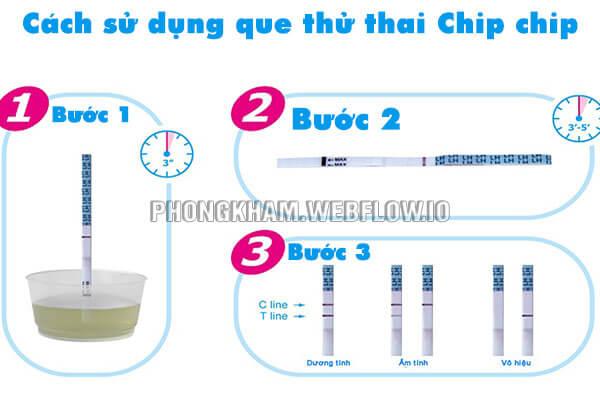 Cách sử dụng que thử thai Chip chip