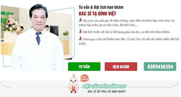 Dịch vụ tư vấn bệnh trĩ online của Phòng khám đa khoa Hưng Thịnh