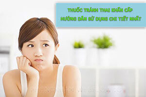 Hướng dẫn uống thuốc tránh thai khẩn cấp của BS CKI Trần Thị Thành