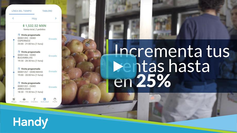 Vista previa y vínculo al video informativo - Incrementa tus ventas hasta en 25%