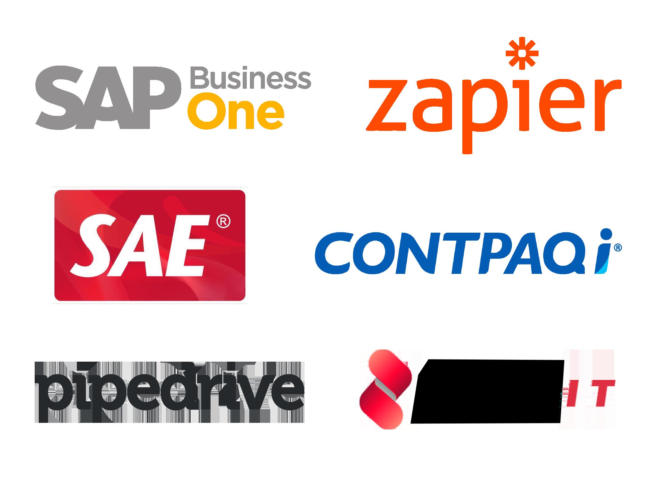 Logos de sistemas comprobados para sincronización con Handy