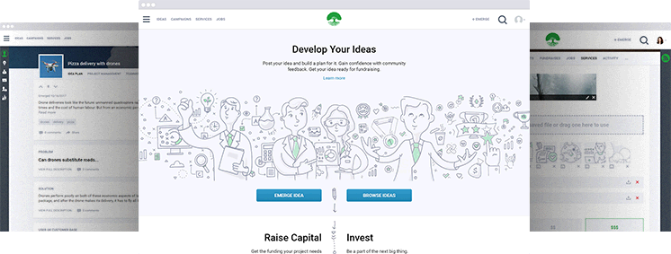 Umergence - Unique Crowdfundingand Project Management Platform