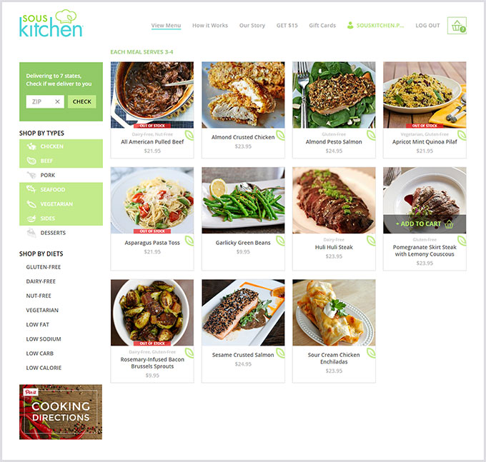 eCommerce platform development for food delivery company