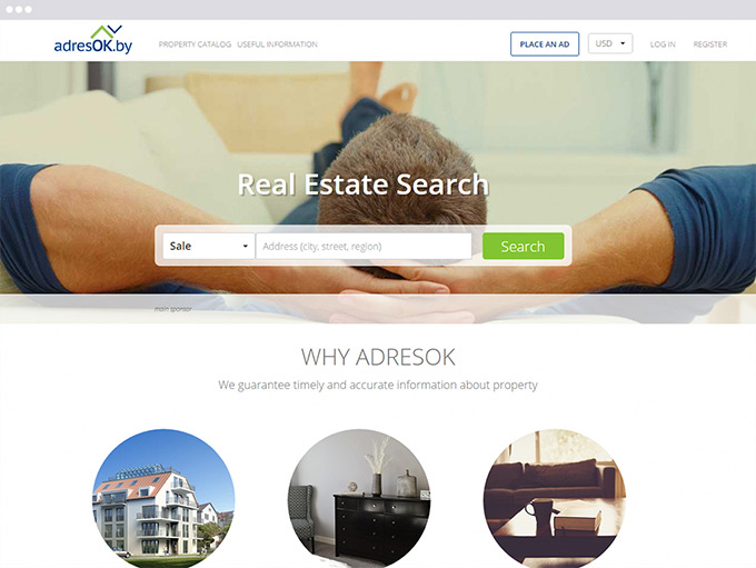 Real Estate web service development