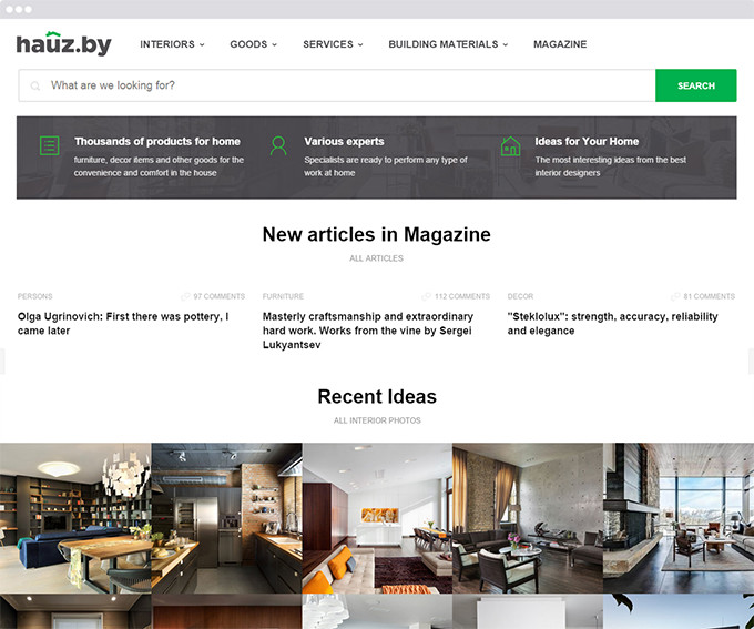 Hauz: Web Portal & eCommerce Platform for Interior Design