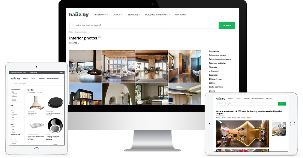 Web Portal Development for Interior Design