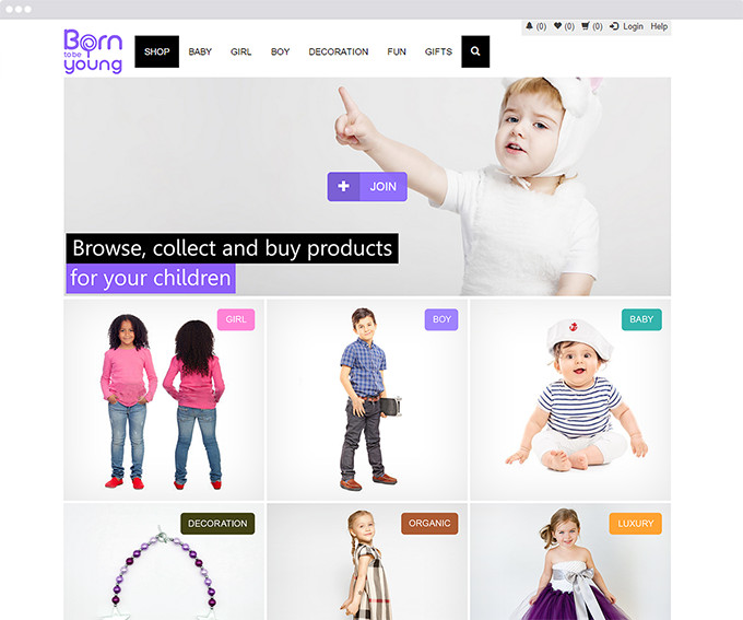 Born to Be Young website development