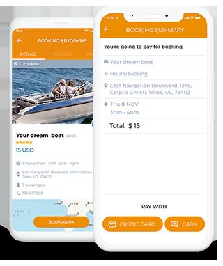 Boat renting app development