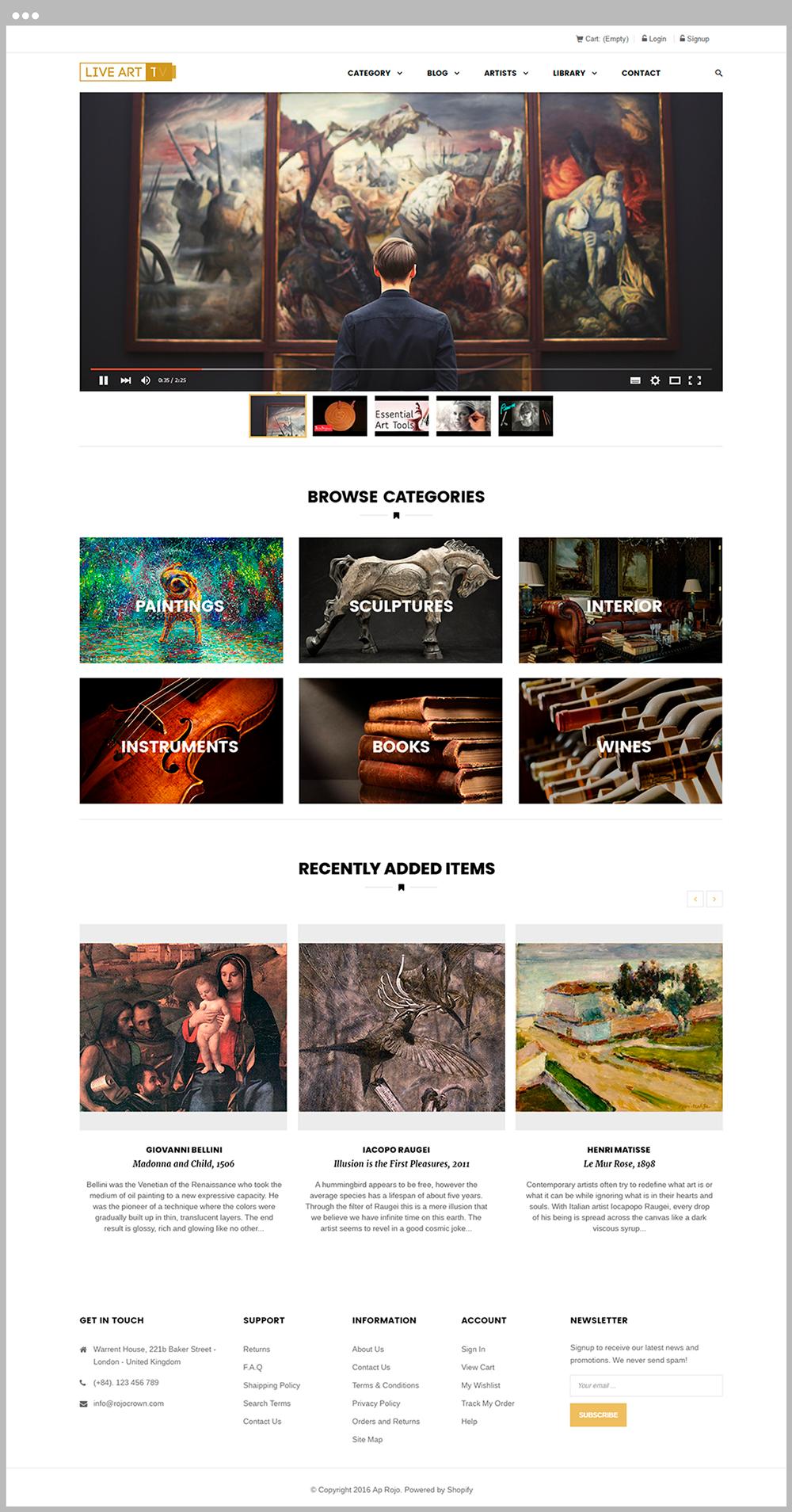 Live Art TV marketplace development
