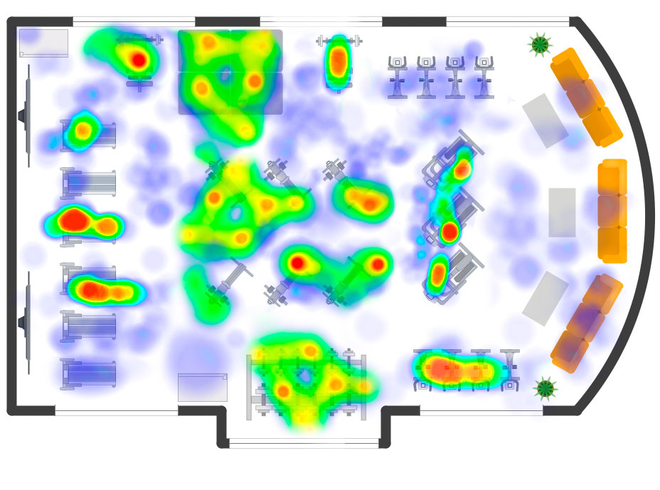 Heatmap of a gym
