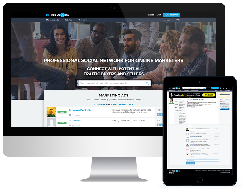 MyMediAds: Professional Network for Online Marketers