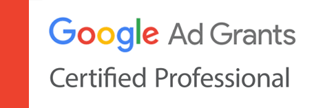 Google Grant certified professional badge.
