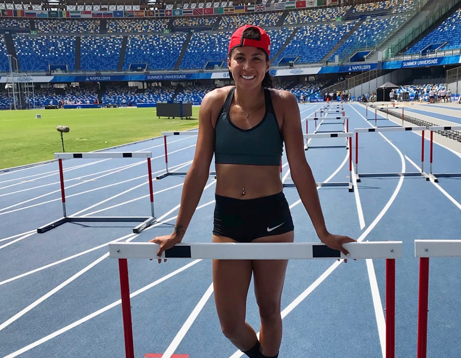 SpearChief-Morris at the 2019 Summer Universiade in Naples. (Submitted by SpearChief-Morris)