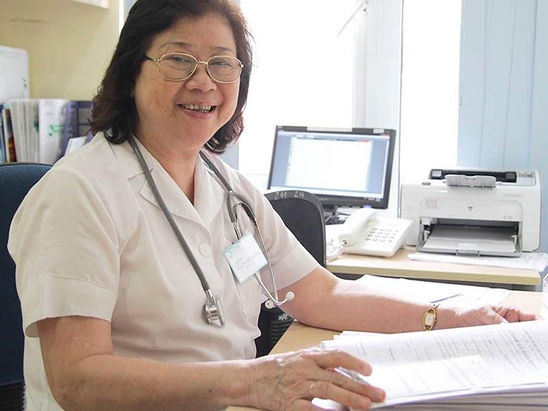 Bác sĩ Nguyễn Thị Kim Loan có nhiều năm tu nghiệp tại Ucraina