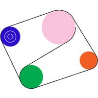 des formes géométriques interconnectées