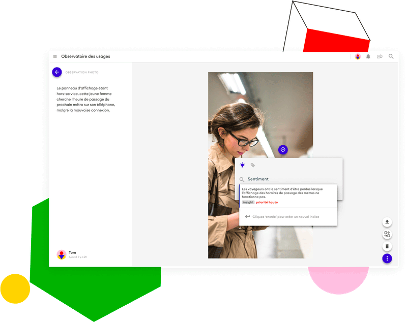 Une interface présentant l'annotation d'images permet d'analyser les données collectées