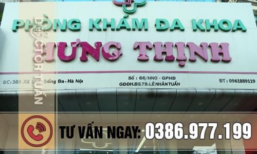 Phòng khám đa khoa Hưng Thịnh, địa chỉ bệnh viện chữa hôi nách