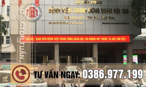 Bệnh viện trung ương quân đội 108 chuyên trị hôi nách