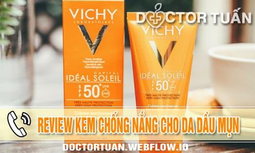 Review kem chống nắng cho da dầu mụn