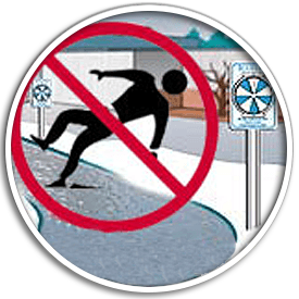 IceAlert® slip and fall rounded image