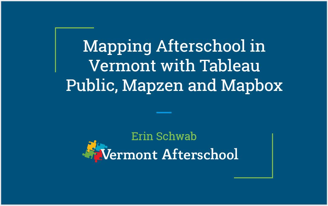 Mapping Afterschool in Vermont with Tableau and Mapbox | Blog
