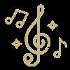 Icon mit Musiknoten