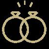 Icon mit Hochzeitsringen