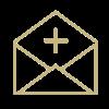 Icon mit Briefumschlag
