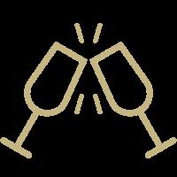 Icon mit Sektgläsern