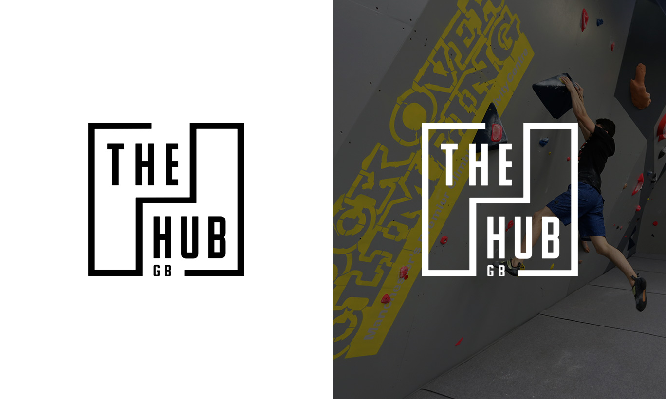 The Hub logo with a white background